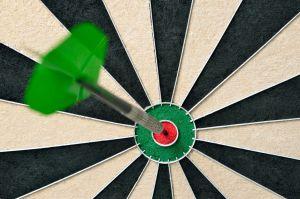 Arrow in a bullseye depicting accuracy