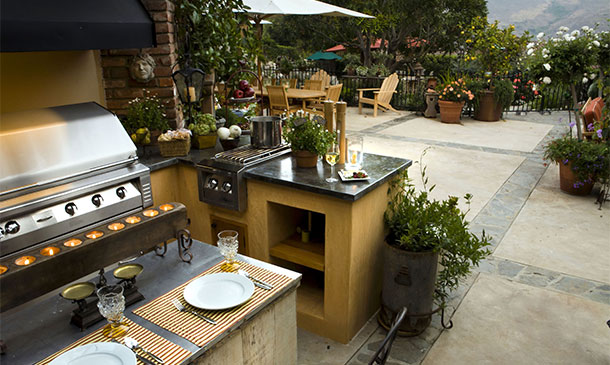 patio kitchen cabinet refacing ideas enclosed trusted home contractors outdoor with bbq