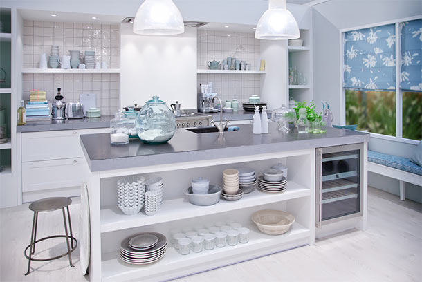 what to clean grease off kitchen cabinets out door style update: open shelves vs. glass | trusted ...