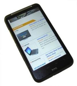 HTC Desire HD browser