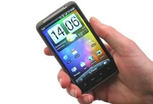 HTC Desire HD in hand
