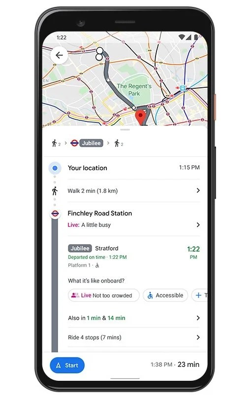 Google Maps live transit crowded Google Maps new features to assist with a Covid-safe Christmas
