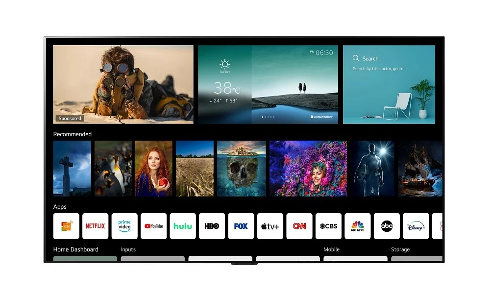 LG webOS 6.0 New Home 1 Every OLED and NanoCell TV announced so far