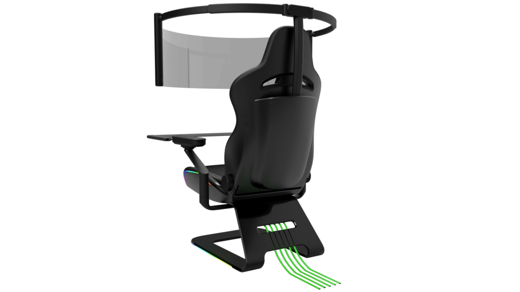 Razer Brooklyn Project 1 Razer unveils jaw-dropping gaming chair with 60-inch rollout OLED display
