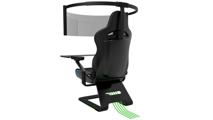 Razer unveils jaw-dropping gaming chair with 60-inch rollout OLED display