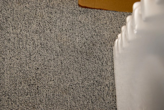Vax Platinum SmartWash Carpet Cleaner close up mud after cleaning