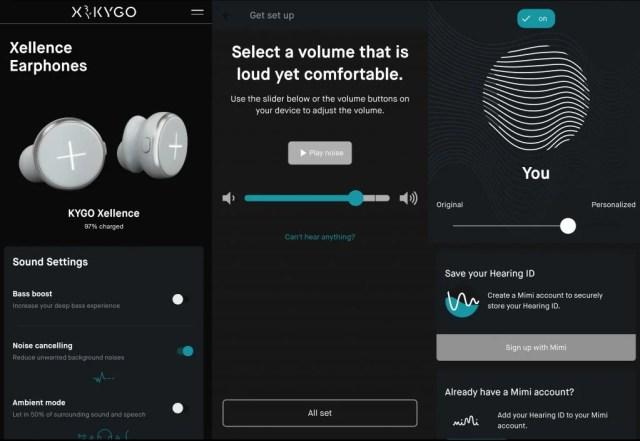 X by Kygo app with Mimi Sound Defined profile