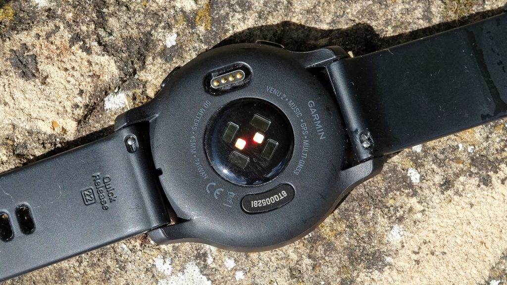 Garmin Venu 2 back including sensors