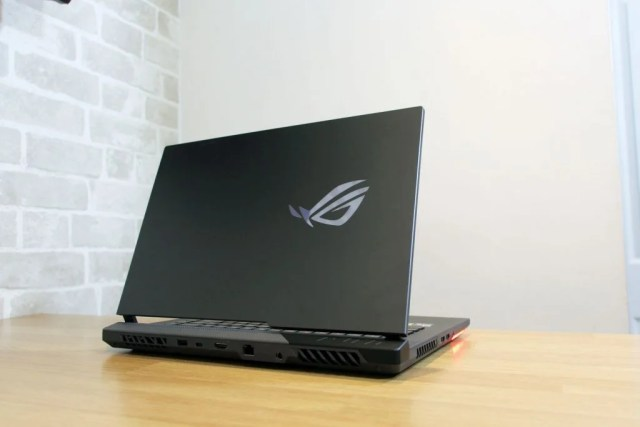 Rear of the gaming laptop