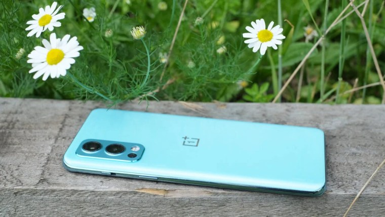 The back of the OnePlus Nord 2 5G showing the camera