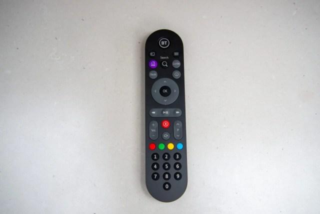 BT TV Box Pro remote