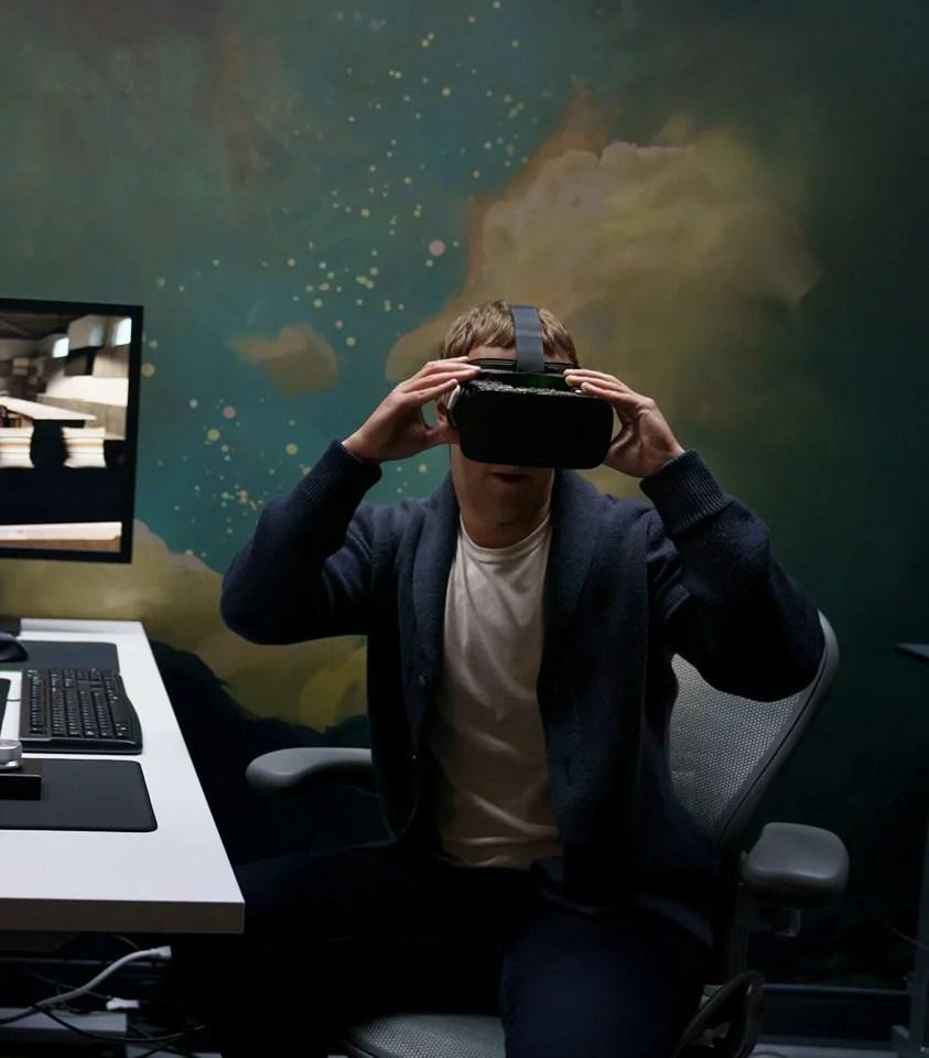 Mark Zuc Facebook Oculus headset