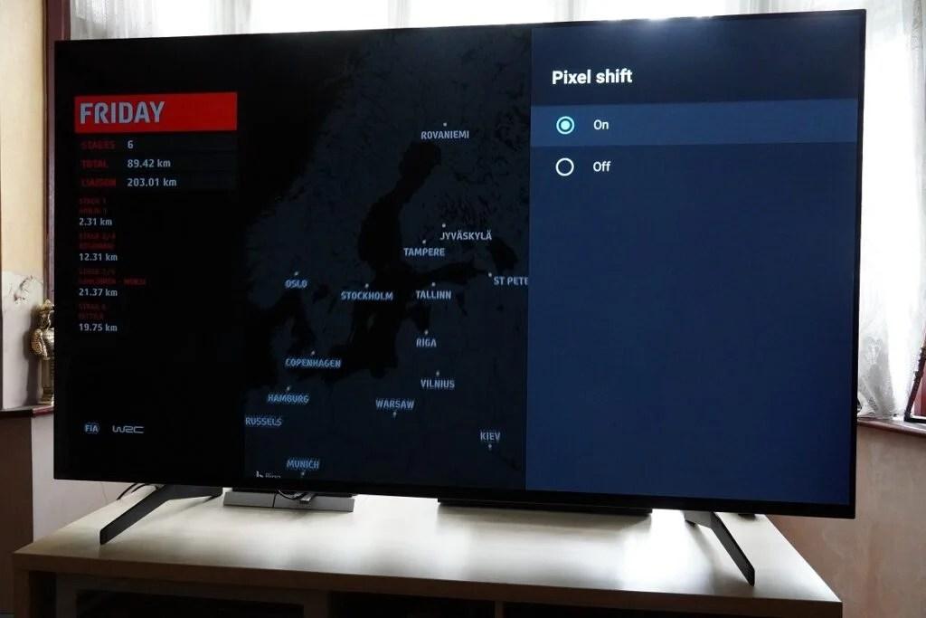 Sony OLED Pixel Shift