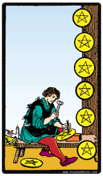 Image result for 8 of pentacles
