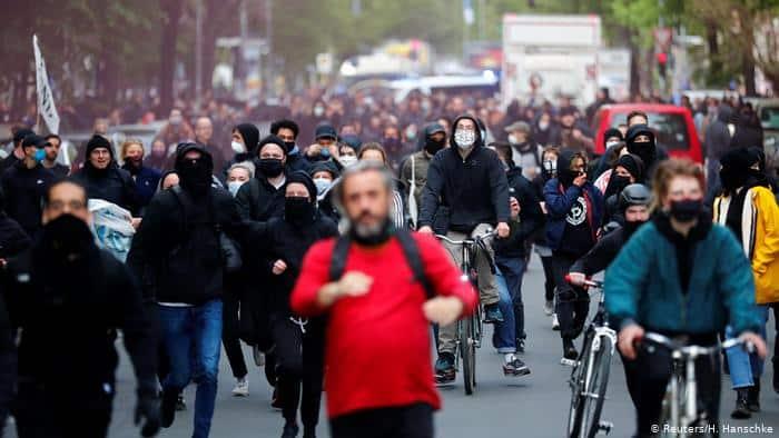 Protestas de Berlín, 1 de mayo de 2020