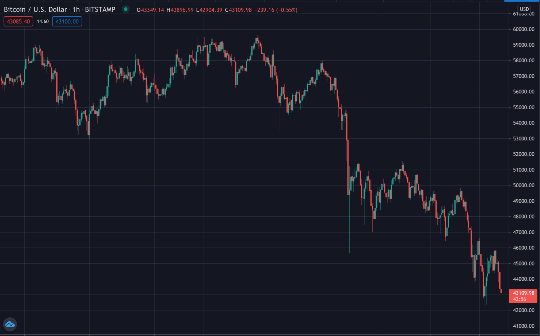 Bitcoin Musk Plunge, May 2021