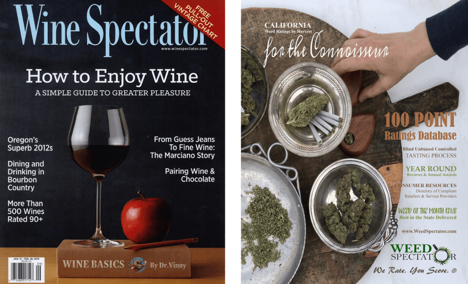 weed spectator and wine spectator covers