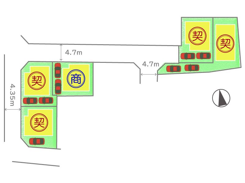 枚方市出口3丁目~全5区画~区画図
