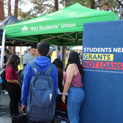 Grants Not Loans Photo Campaign Table in 2019