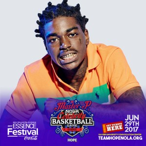 Kodak Black added to Master P's Star-studded Celebrity Basketball Game June 29th New Orleans.
