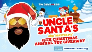 UNCLE SANTA 19TH CHRISTMAS ANNUAL TOY GIVEAWAY  OVER FOUR THOUSAND KIDS