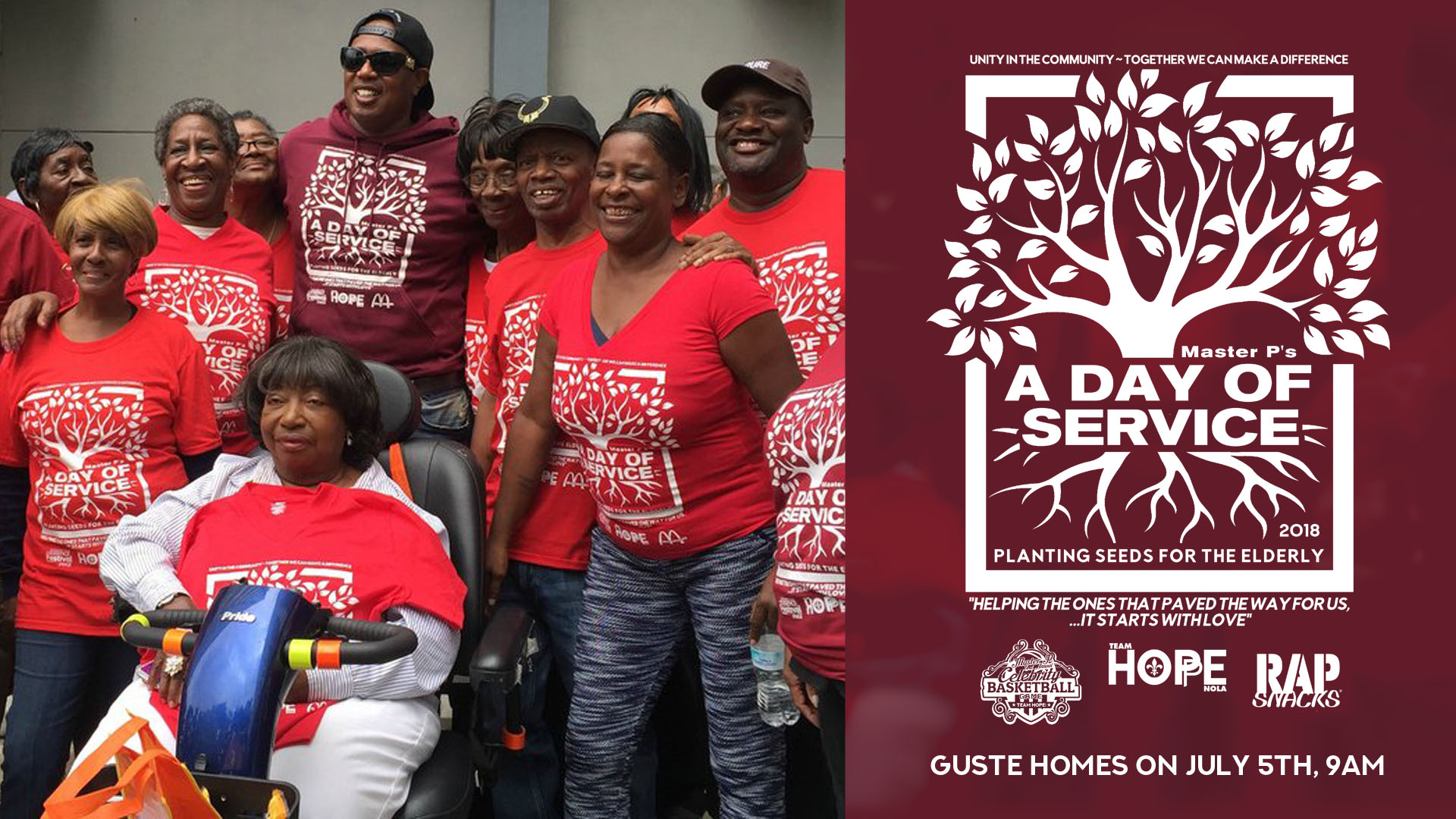 MASTER P IGROW CAMPAIGN PLANTING SEEDS IN NEW ORLEANS GIVING BACK TO THE ELDERLY