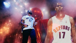 DRAKE ROCKS PERCY MILLER MASTER P NBA RAPTORS JERSEY AT THE OVO FEST