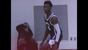 "Hercy Miller 6'3″ High School Junior with ""Mamba Mentality"" wore #8 #24 on shoe in game."