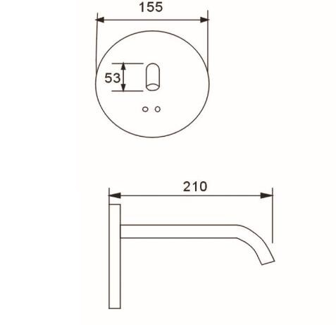 wall mounted automatic sensor water faucet