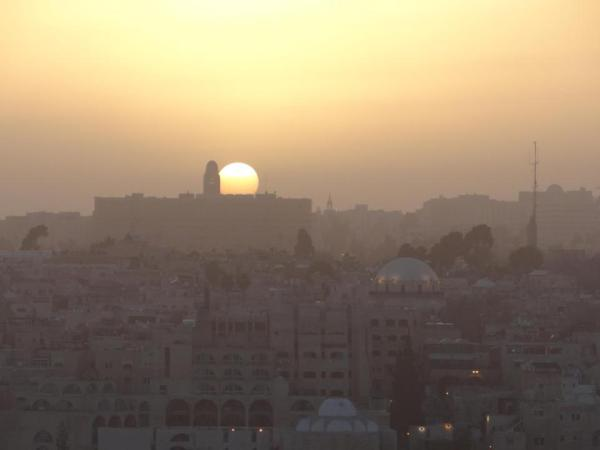 Setting Sun Jerusalem