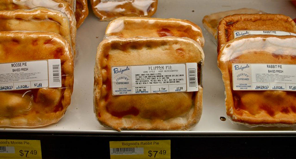 Flipper pie is a popular product of the sealing industry
