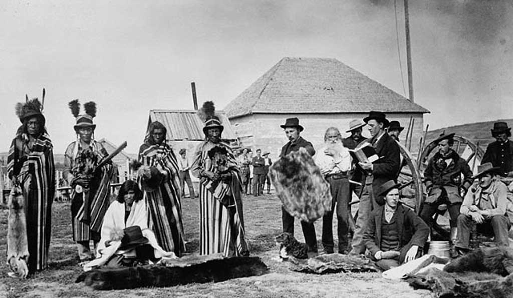 Plains Cree fur traders