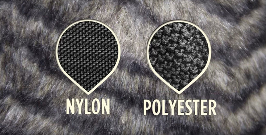 nylon and polyester pollute with microfibres