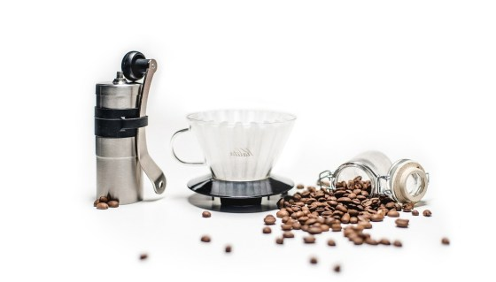 brewing a coffee