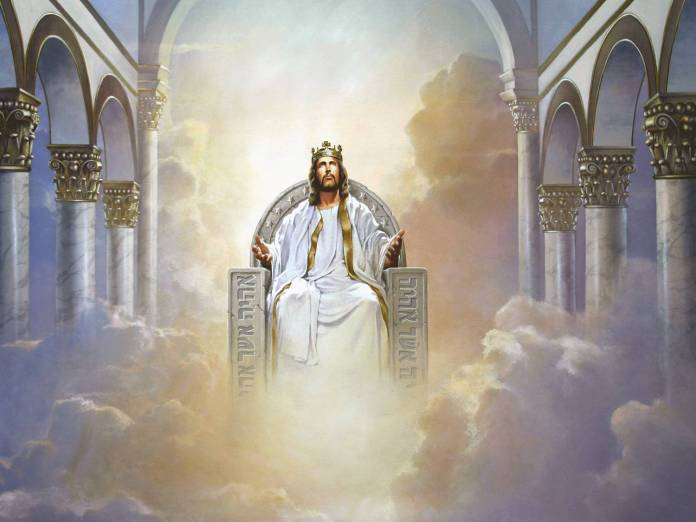 Image result for Jesus on throne
