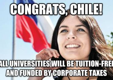 congrats chile free education
