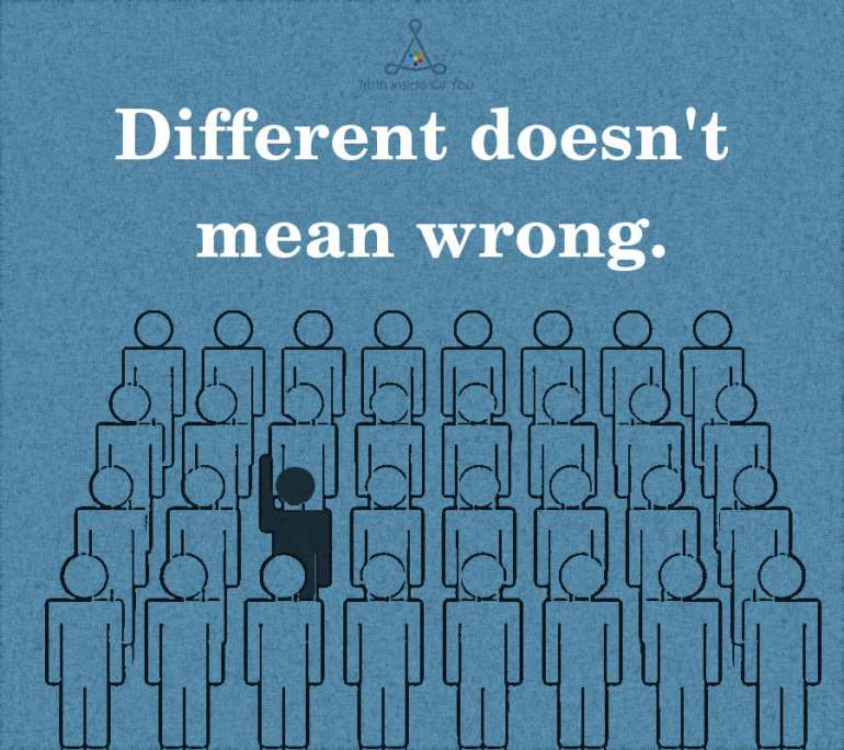 Different doesn't mean wrong.