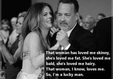 Tom Hanks about his wife Rita Wilson