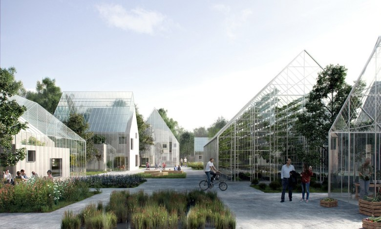 The neighborhood that will produce its own food, energy and will recycle waste. (2)