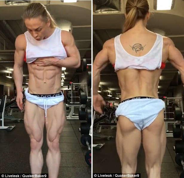 Female Bodybuilder with ZERO Per Cent' Body Fat