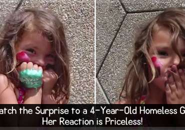 Watch the Surprise to a 4-Year-Old Homeless Girl - Her Reaction is Priceless!