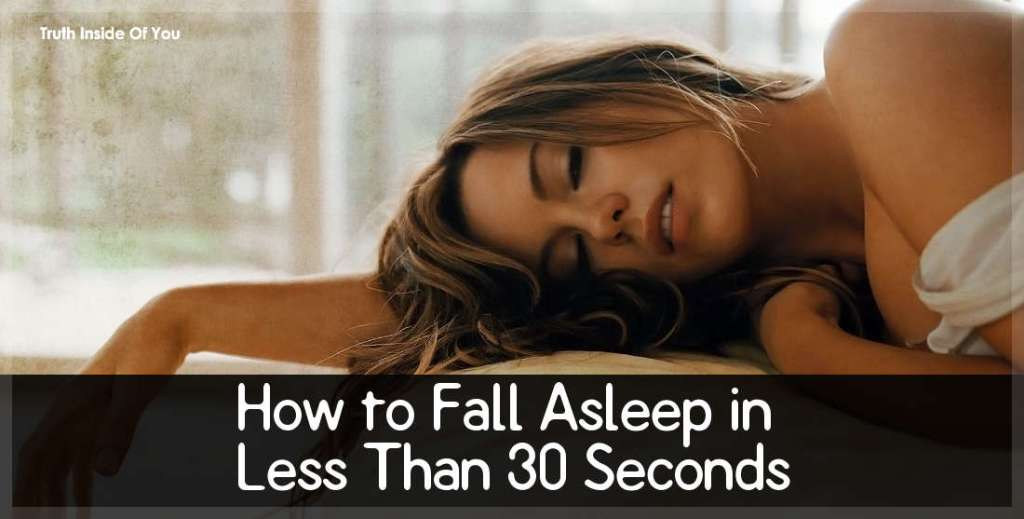 how to fall asleep in seconds