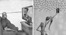 20 Sketches Illustrating The Bitter Truths Of Modern Society