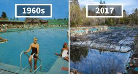 Photographer Finds Locations Of 1960s Postcards and Compares Them With Photos Of Today.