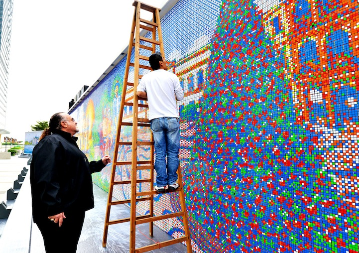 These Artists Twist Thousands of Rubik's Cube a Day to Create Massive Murals.12