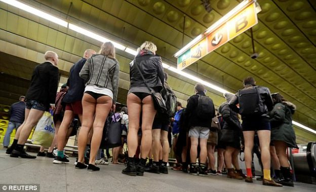 No pants Subway Ride-8