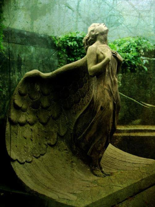 21. Statue Of An Angel At The Powazki Cemetery, Poland.