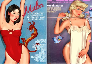 Artist Reinvented Disney Princesses As Iconic Playboy Covers And It's Turns Out Extraordinary