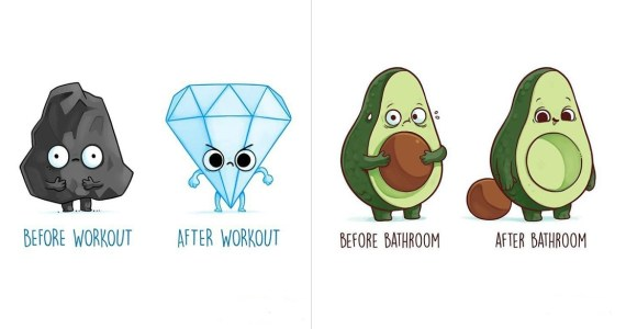 22 Hilarious Before & After Illustrations By Nacho Diaz, You Will Find Completely Relatable