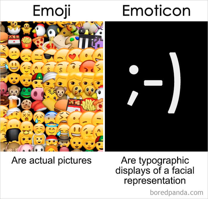 5. Emoji vs Emoticon